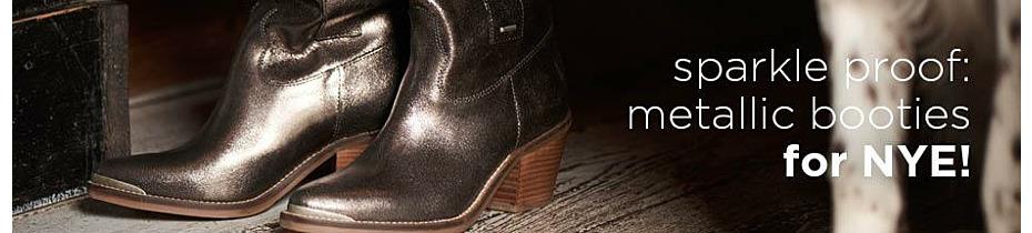 Sparkle proof: metallic booties for NYE!