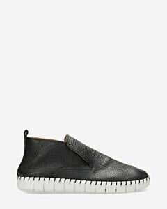 Loafer high heavy grain leather