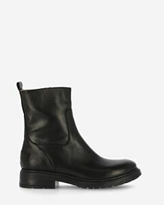 Ankle boot smooth leather black