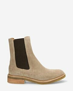 Chelsea-Boot-Wildleder-Taupe