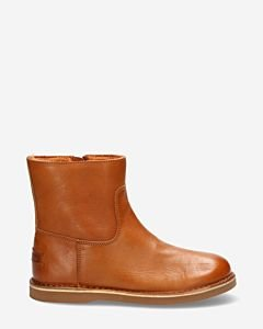 Wool linked ankle boot cognac