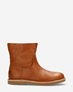 Ankle-boot-smooth-leather-cognac