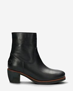 Heeled-ankle-boot-smooth-leather-dark-blue