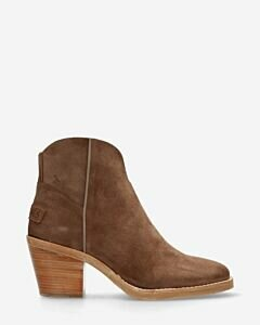 Ankle boot lime brown