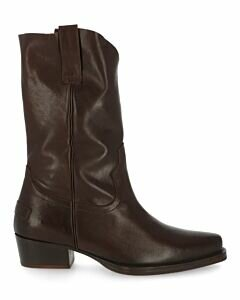 Western-boot-grain-leather-dark-brown