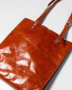 SHOPPINGBAG-M-SOFT-PATENT-LEATHER-Orange
