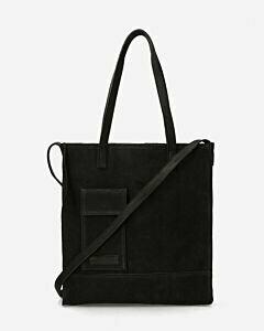 Shopper natürlich gegerbtes Leder schwarz