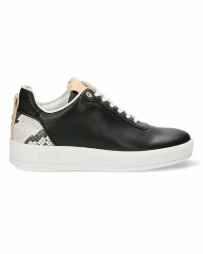Black sneaker with snake printed patch