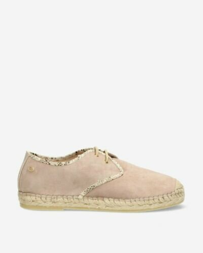 Suede lace-up espadrille Taupe