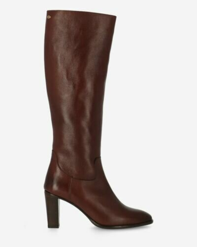 Heeeld boot soft smooth leather brown