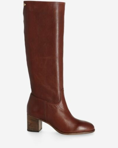 Boot soft smooth leather dark brown