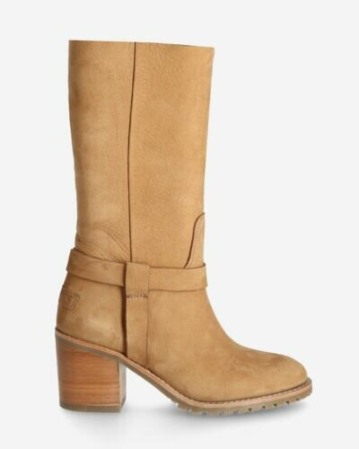 Boot hand buffed leather brown