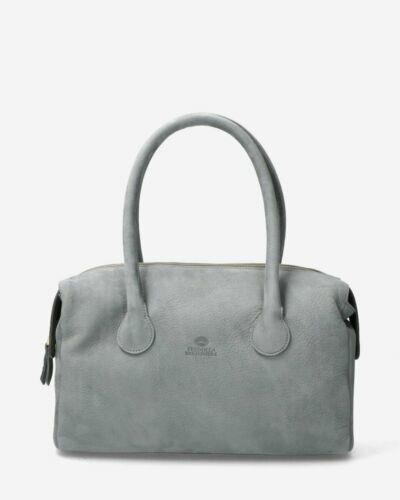 Handbag grain leather taupe