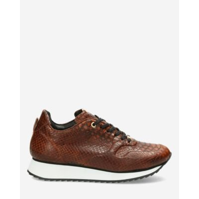 Sneaker-croco-printed-brown