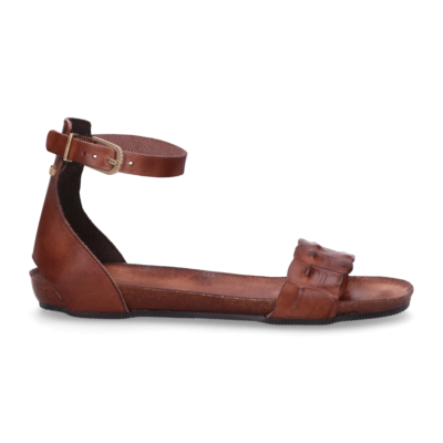 Sandal-smooth-leather-Dark-Brown-