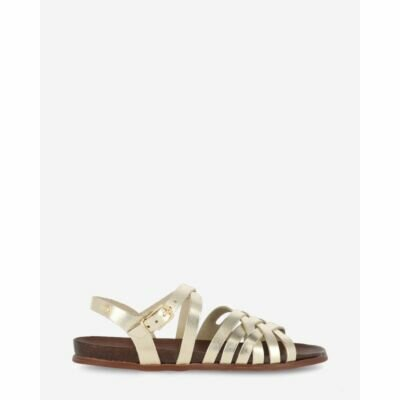 Sandal-smooth-leather-gold