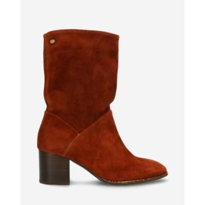 Heeled-ankle-boot-waxed-suede-brique-brown