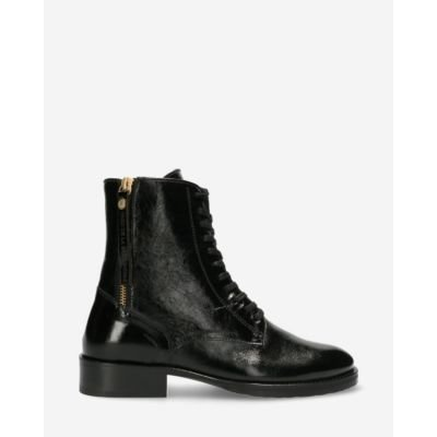 Biker-boot-patent-leather-black