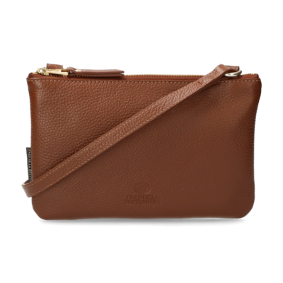 Cross-body-grain-leather-cognac