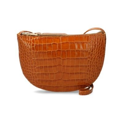 Cognac-crocodile-leather-crossbody-bag