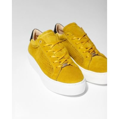 Sneaker-cutted-suede-Yellow