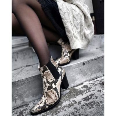 Chelsea-boot-snake-printed-leather-Taupe