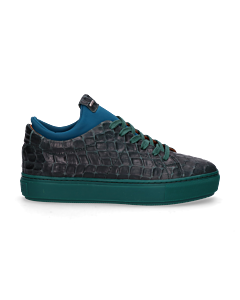Sneaker-croco-printed-leather-Green
