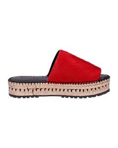 ESPADRILLE-SLIPPER-2,5-CM-HORSY-LONG-HAIR-Red