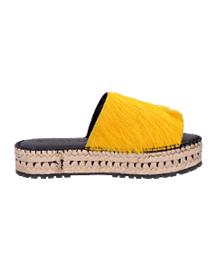 ESPADRILLE-SLIPPER-2,5-CM-HORSY-LONG-HAIR-Yellow