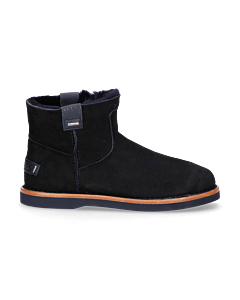 Ankle-boot-reversed-leather-Dark-Blue