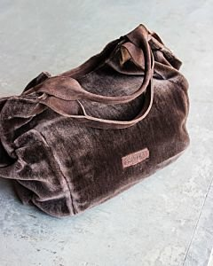 Fluffy-large-shopper-dark-brown