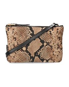 Crossbody-snake-printed-leather-taupe