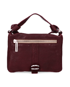 Cross-body-Glattleder-Bordeaux
