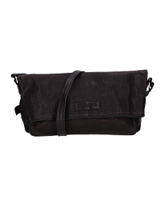 Shoulderbag-printed-leather-black