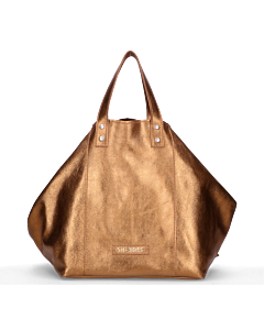 Shopper-metallisch-Strukturleder-Bronze