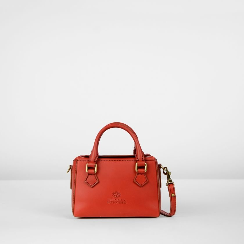 Handbag-natural-dyed-leather-Red
