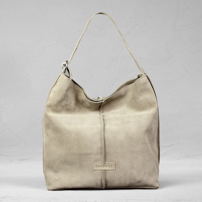 SHOULDERBAG-LARGE-SUEDE-Taupe
