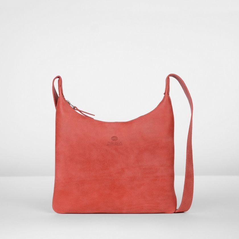 Shoulderbag-hand-buffed-leather-Red