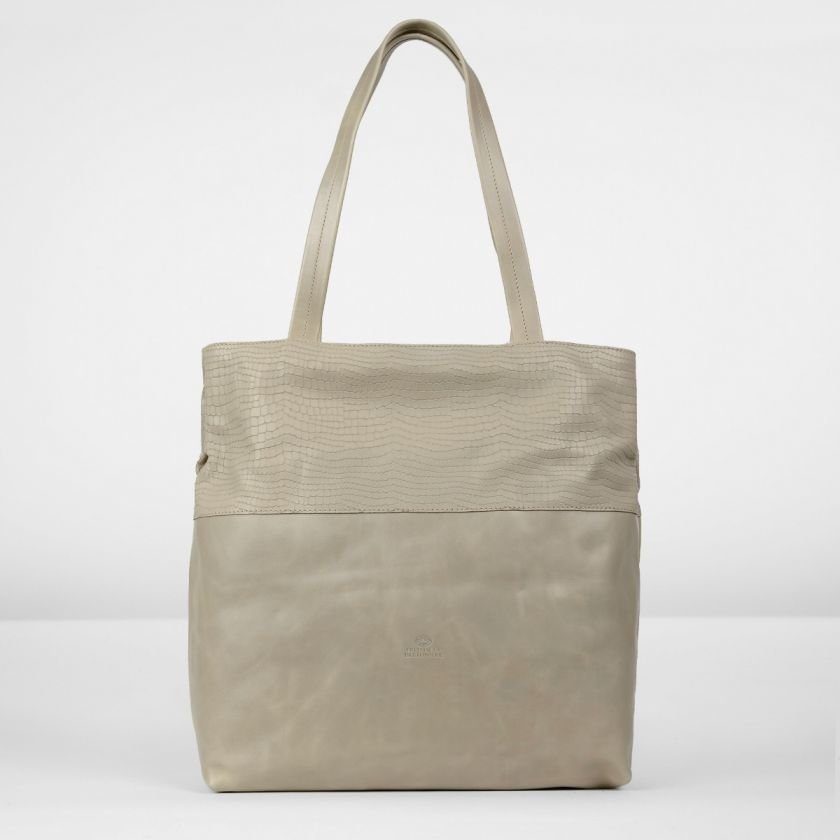 Shoulderbag-polished-leather-Taupe