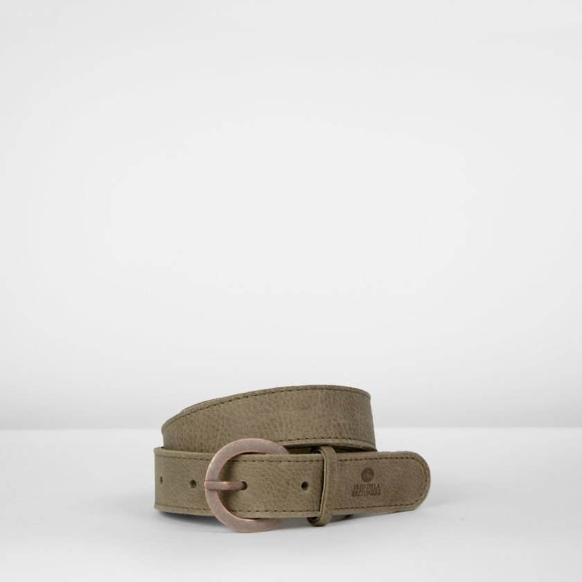 Belt-hand-buffed-leather-Taupe