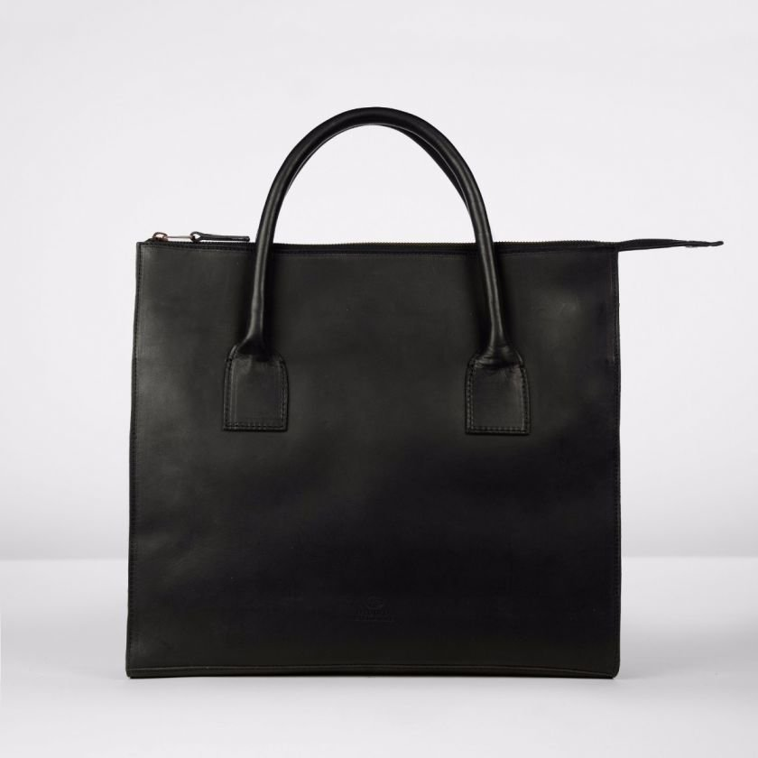 Business-bag-natural-dyed-leather-Black