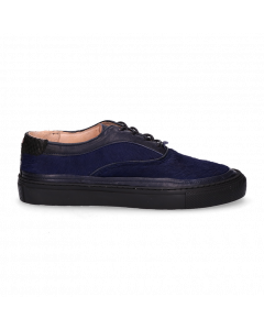 Sneaker-soft-smooth-leather-with-haircalf-Dark-Blue