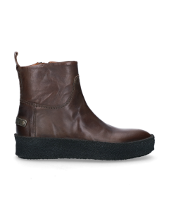 Ankle-boot-smooth-leather-Taupe
