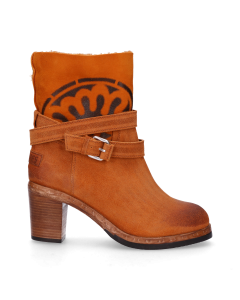 Stiefelette-gewachstes-Wildleder-mit-double-face-Orange
