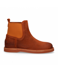Stiefelette-gewachstes-Wildleder-Orange