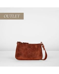 Cross body hand buffed leather Bordeaux