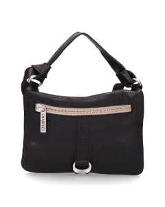 Cross-body-Glattleder-Schwarz