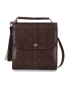 Schoulderbag-printed-leather-Dark-Taupe