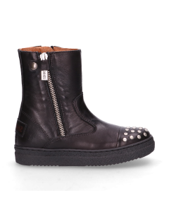 SHABBIES-KIDS-ANKLE-BOOT-POLISHED-LEATHER-Black