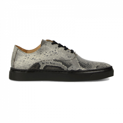 Sneaker-python-printed-leather-Taupe